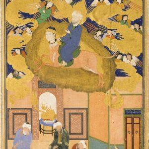 تصویر: معراج پیامبر اسلام  سلطان محمد قرن شانزدهم میلادی